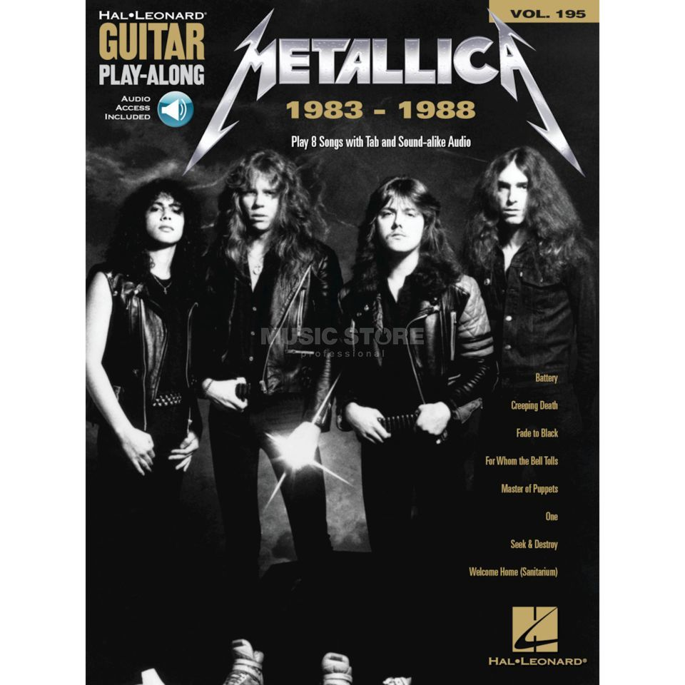 Hal Leonard Guitar Play-Along Volume 195: Metallica 1983-1988 Produktbild