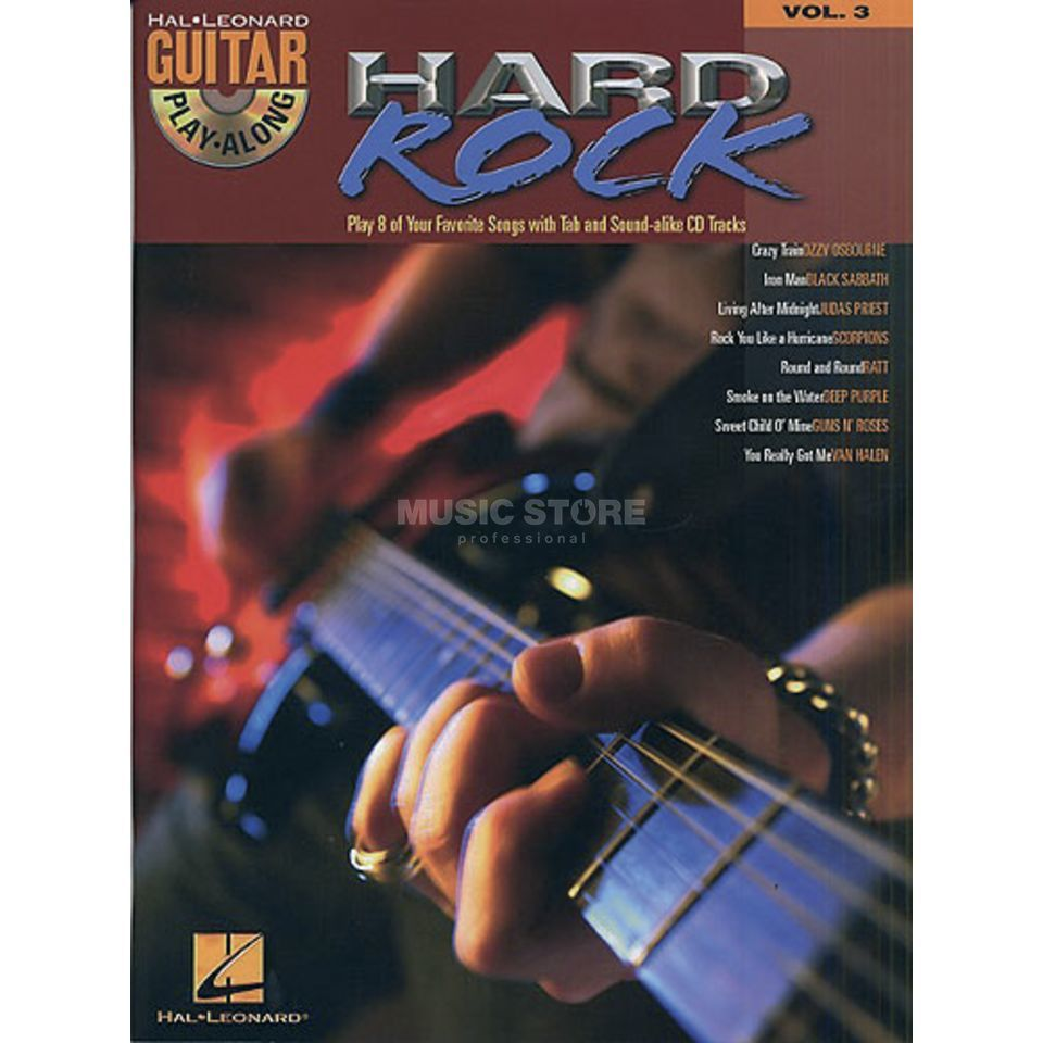 Hal Leonard Hard Rock play along TAB incl. CD Produktbillede