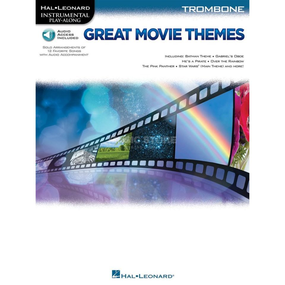Hal Leonard Instrumental Play-Along: Great Movie Themes - Trombone Produktbillede
