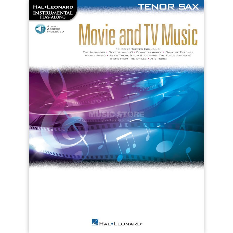 Hal Leonard Instrumental Play-Along: Movie and TV Music - Tenor Sax Product Image