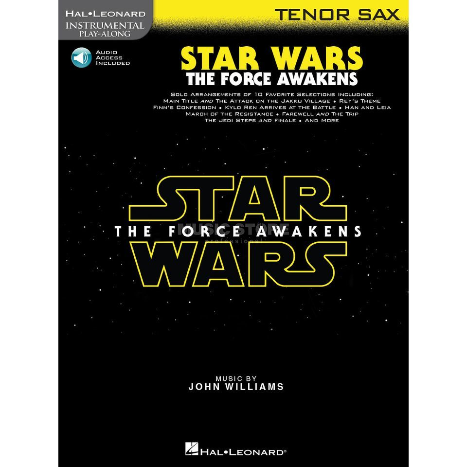 Hal Leonard Instrumental Play-Along: Star Wars - The Force Awakens - Tenor Saxophone Imagem do produto