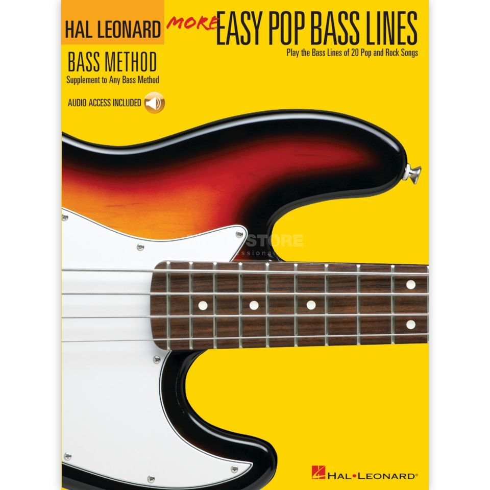 Hal Leonard More Easy Pop Bass Lines inkl. CD Produktbillede