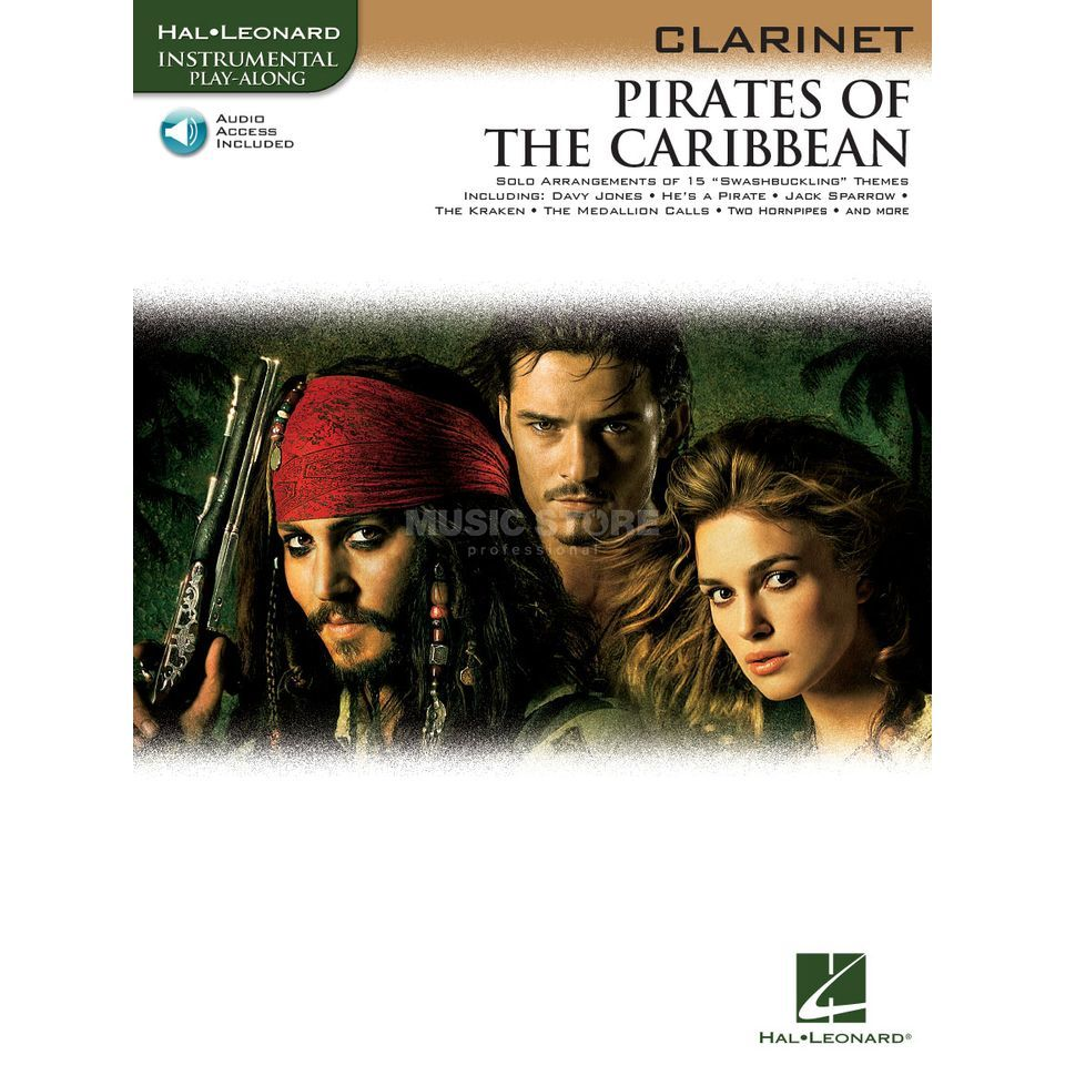 Hal Leonard Pirates Of The Caribbean Klarinette/CD, Leicht Produktbillede