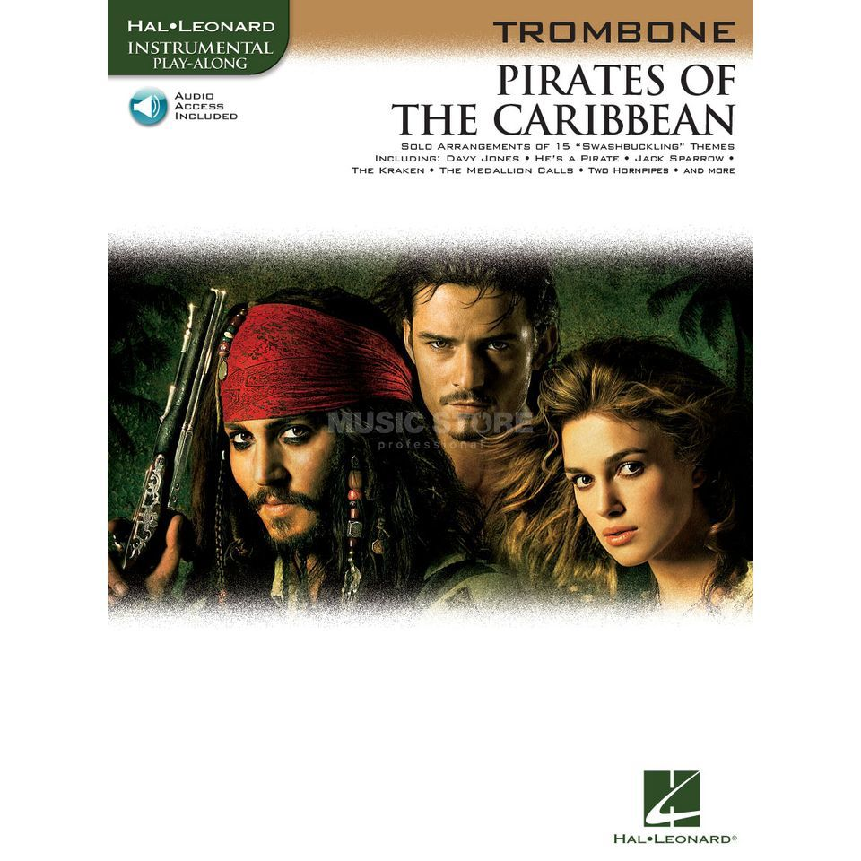 Hal Leonard Pirates Of The Caribbean Posaune/CD, Leicht Produktbillede
