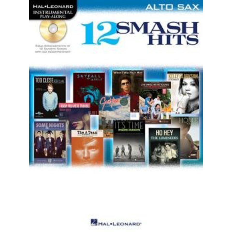 Hal Leonard Play-Along - 12 Smash Hits Alt-Saxophon, Buch und CD Product Image