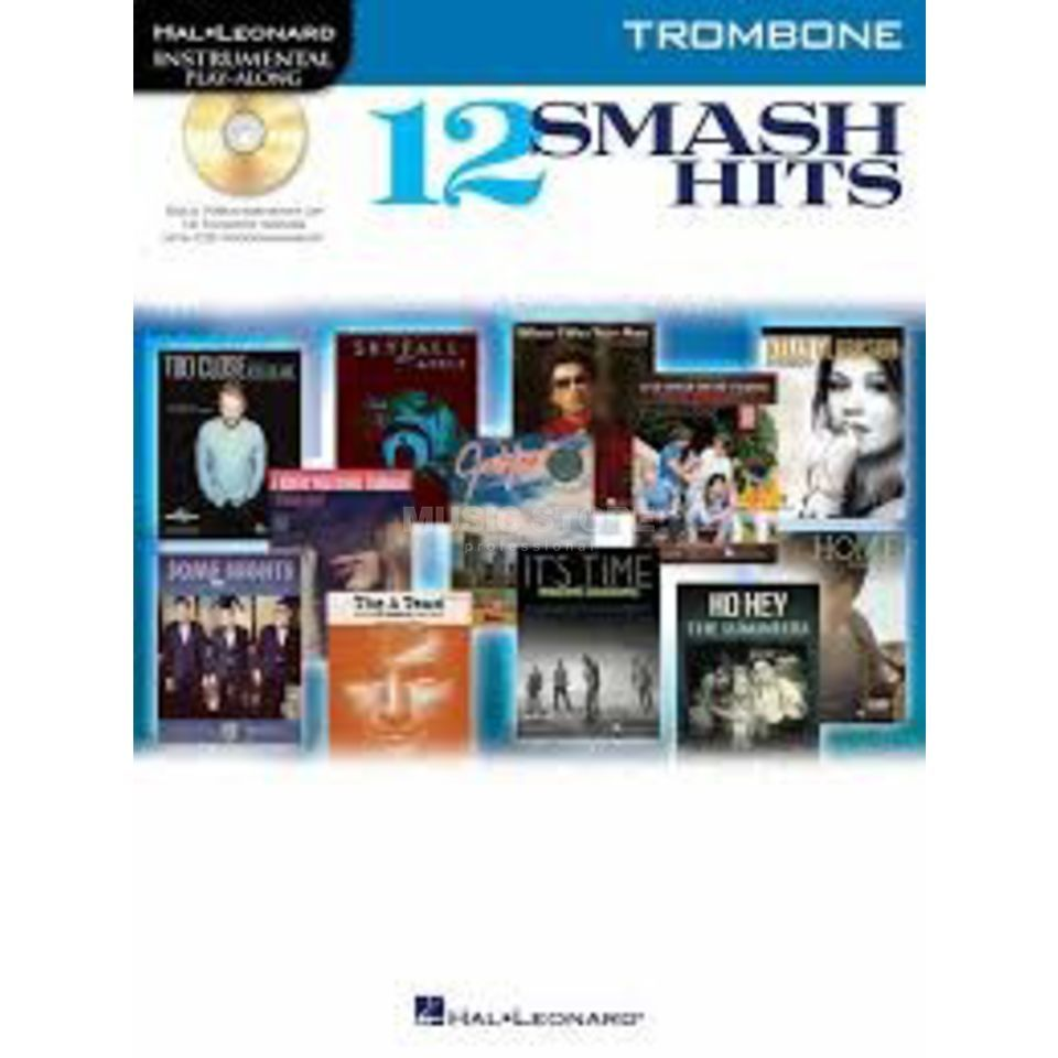 Hal Leonard Play-Along - 12 Smash Hits Posaune, Buch und CD Product Image