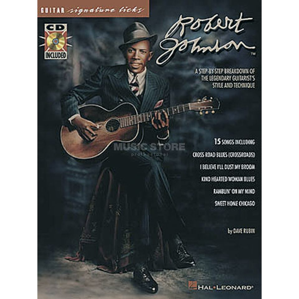 Hal Leonard Robert Johnson Guitar Signature Licks TAB Produktbild