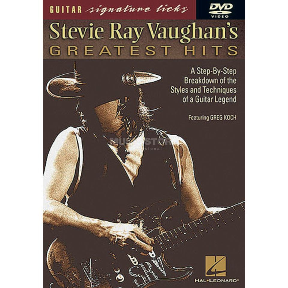 Hal Leonard S. R. Vaughan's Greatest Hits Guitar Signature Licks, DVD Produktbillede