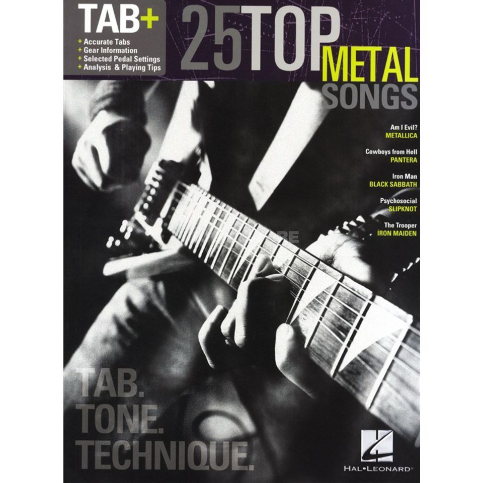 Hal Leonard Tab+: 25 Top Metal Songs - Tab. Tone. Technique. Produktbild
