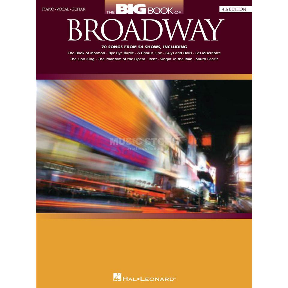 Hal Leonard The Big Book Of Broadway 4th Edition PVG Produktbild