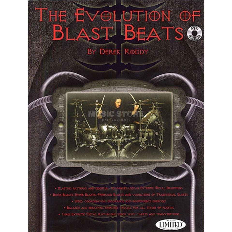 Hal Leonard The Evolution of Blast Beats Derek Roddy, Buch und CD Produktbild