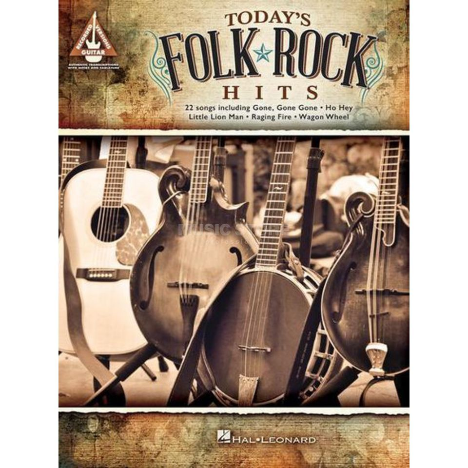 Hal Leonard Today's Folk Rock Hits Guitar Recorded Versions Produktbild
