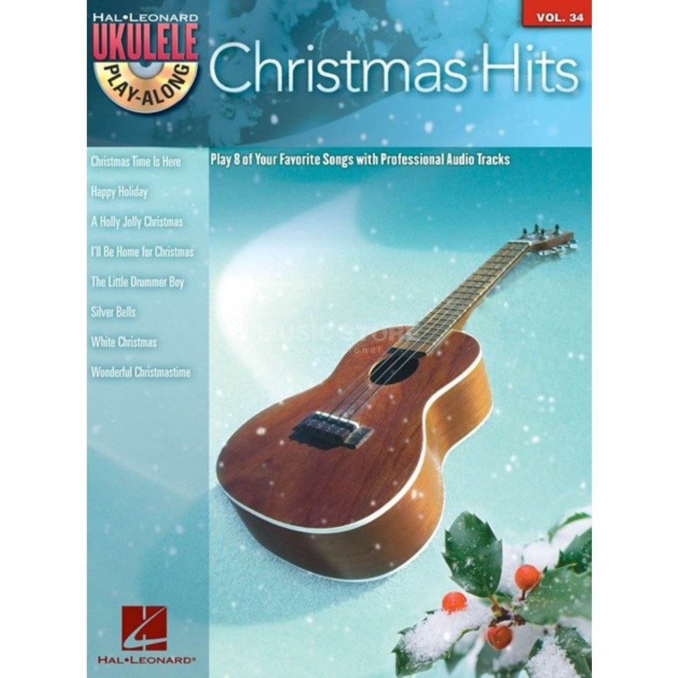 Hal Leonard Ukulele Play-Along: Christmas Hits Vol. 34, Ukulele mit CD Produktbild