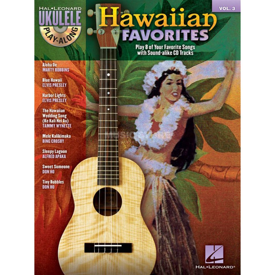 Hal Leonard Ukulele Play-Along: Hawaiian Vol. 3, Ukulele incl. CD Produktbillede