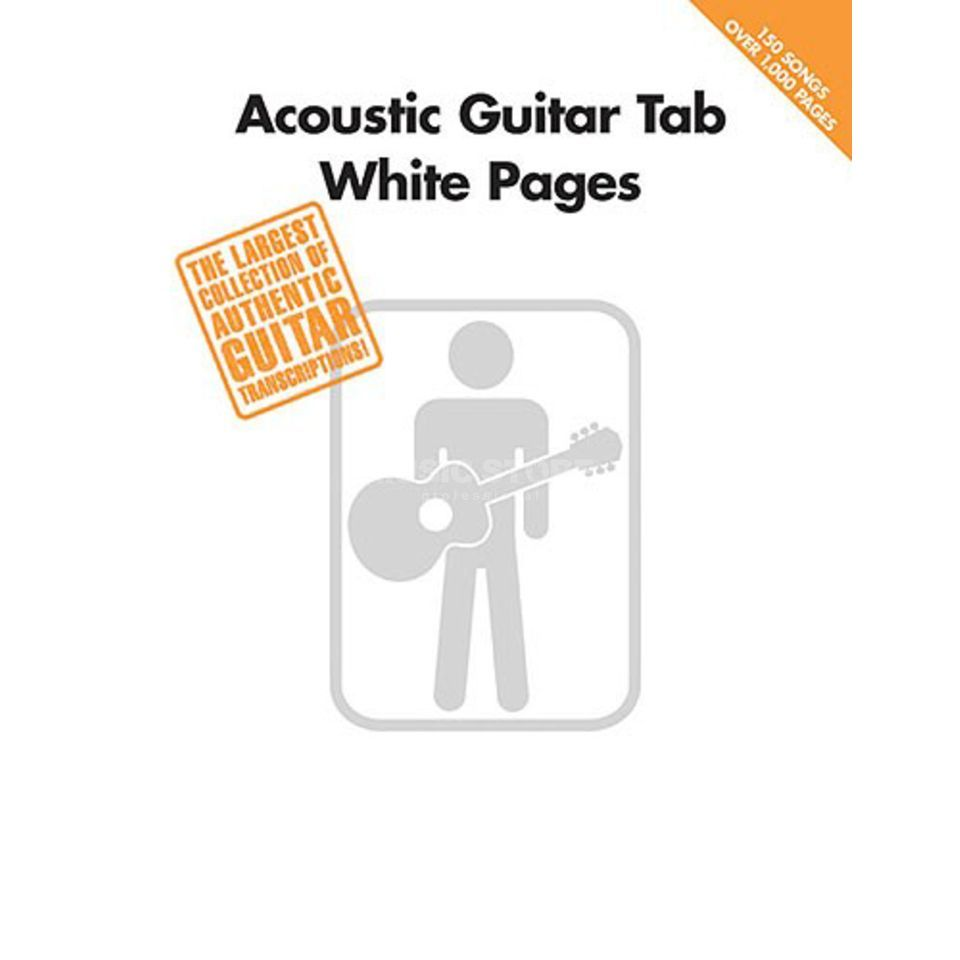 Hal Leonard White Pages Acoustic Guitar TAB Produktbillede