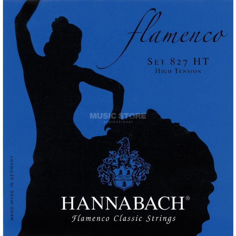 Hannabach Con. Guitar Strings 827 blue Flamenco High Tension Produktbillede