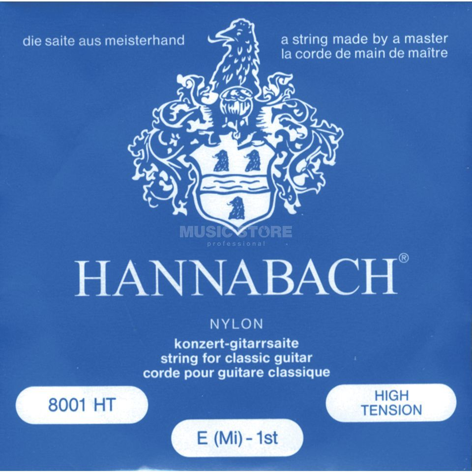 Hannabach K-Git.snaren set 800 blauw Nylon High Tension Productafbeelding