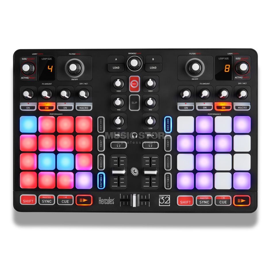 Hercules P32 DJ All-in-One Controller Produktbild