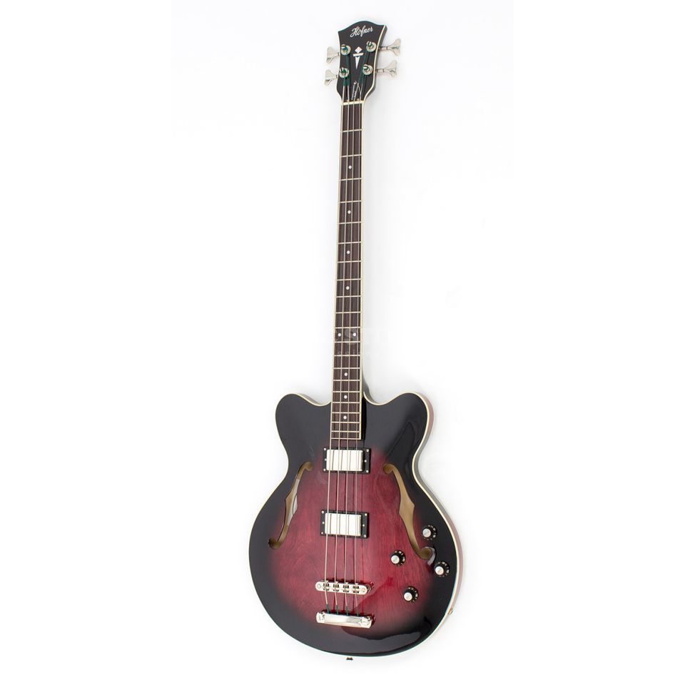 Höfner HCT-500/8-DC Verythin CT Long Scale Bass Dark Cherry Sunburst Product Image