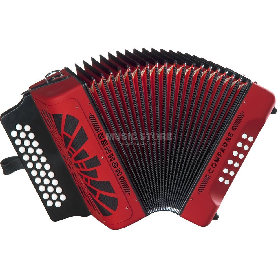Hohner Button-Accordion Compadre F/Bb/Eb Red Produktbillede