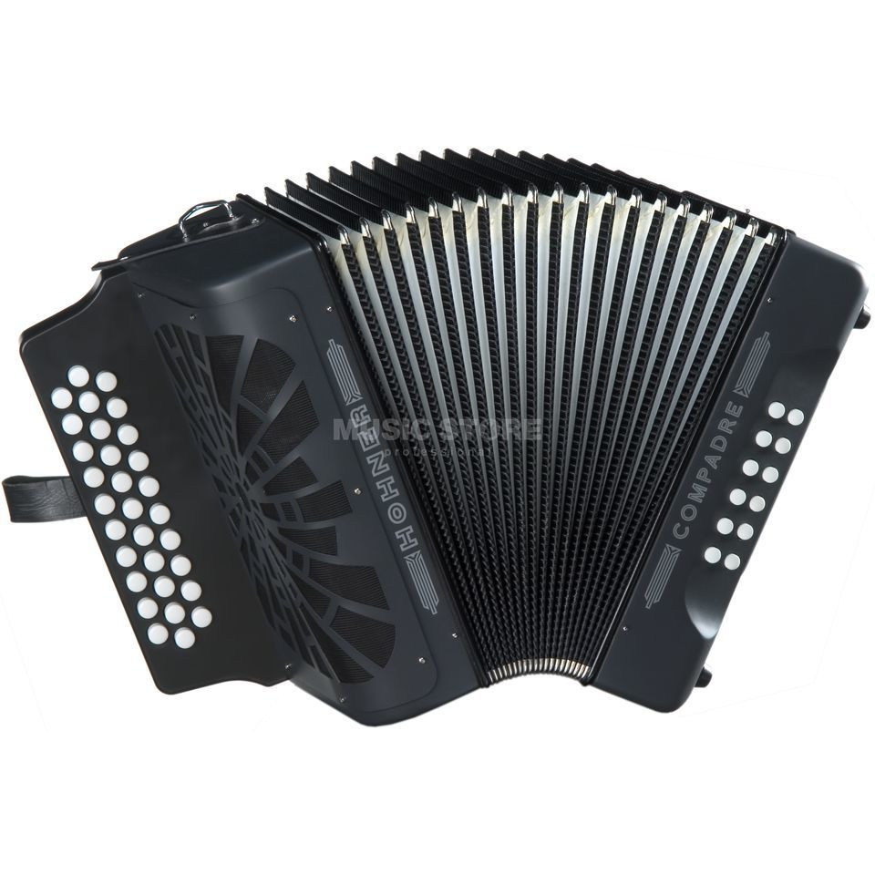 Hohner Button-Accordion Compadre G/C/F Black Produktbillede