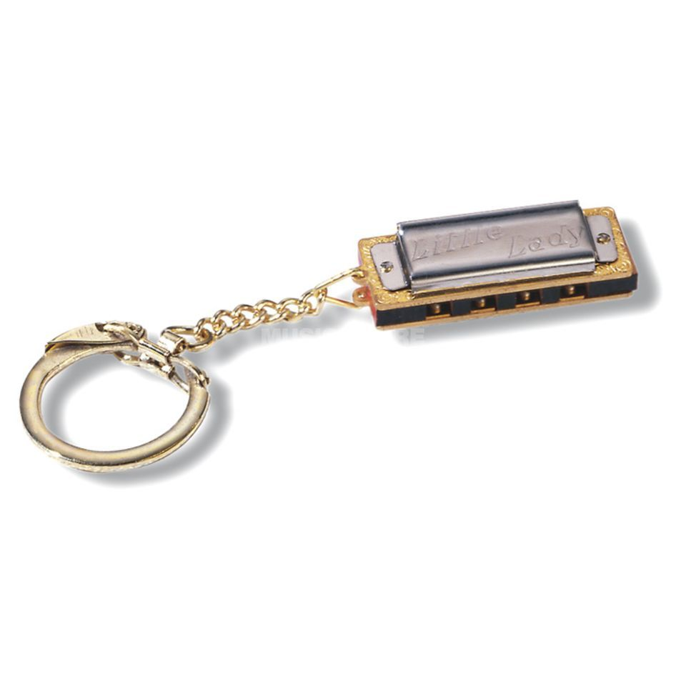 Hohner Little Lady with key-ring harmonica C Major, ca. 3.5cm Immagine prodotto