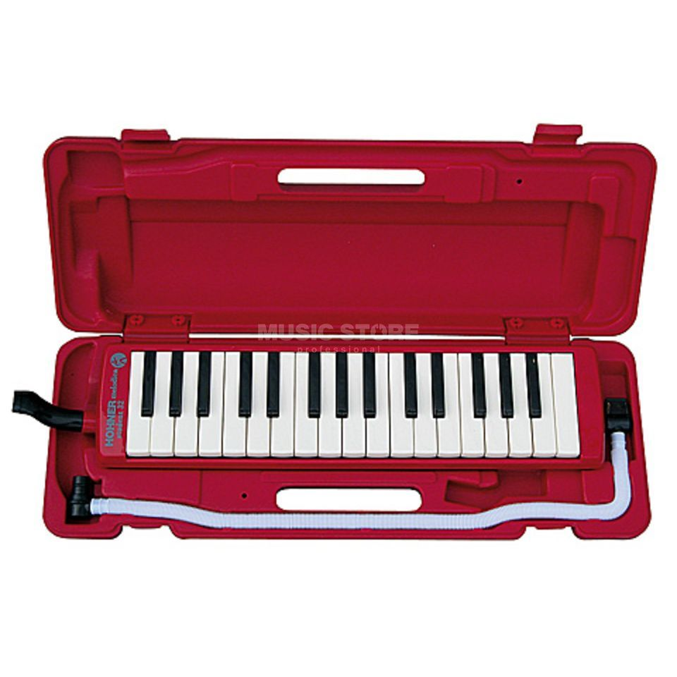 Hohner Studet Melodica 32 rood incl. Etui en accessoires Productafbeelding