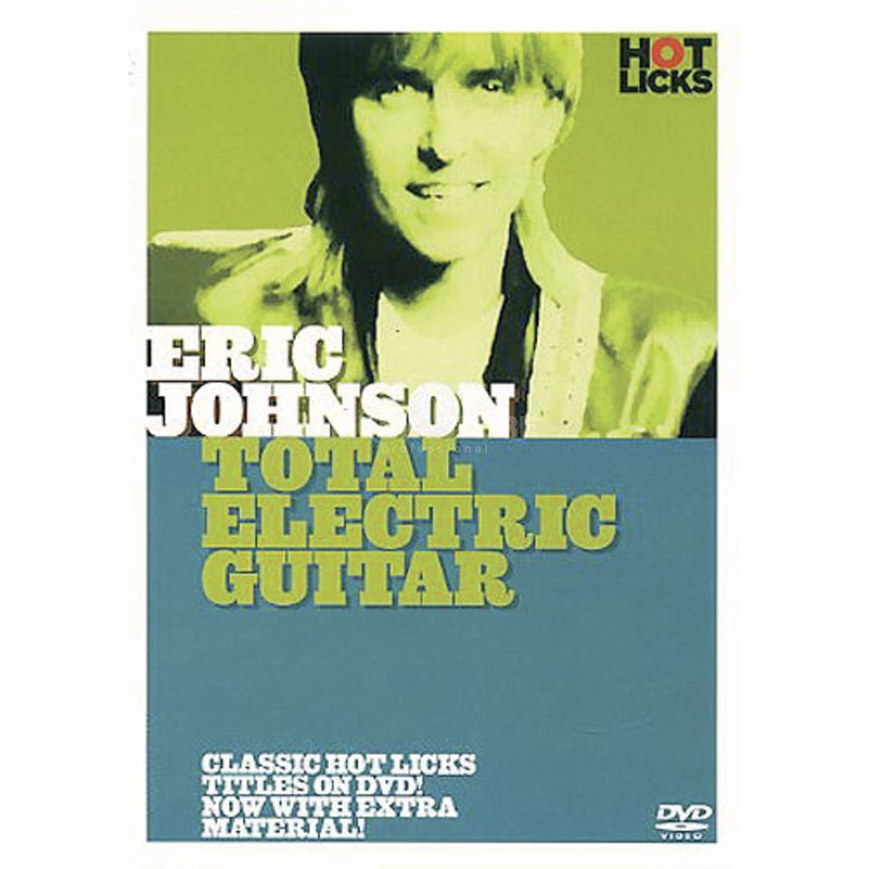 Hotlicks Videos Eric Johnson: Total Guitar Hot Licks Guitar, DVD Produktbillede
