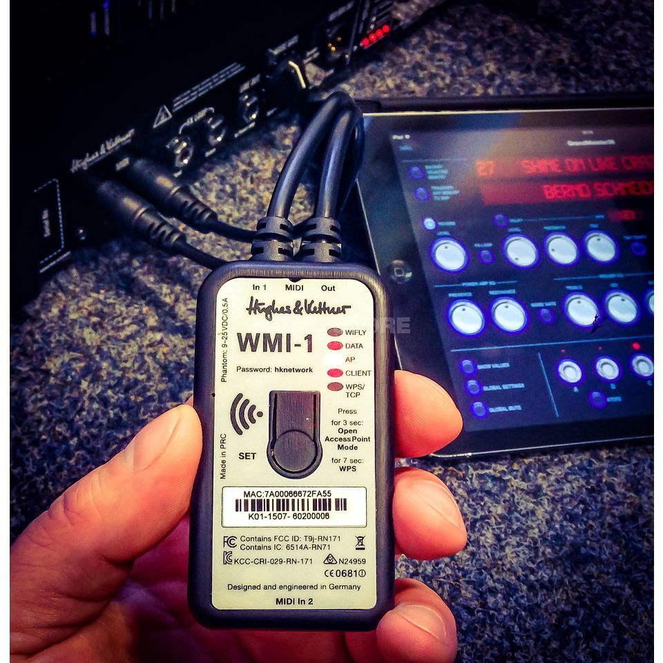 Hughes & Kettner WMI-1 Wireless MIDI Interface Produktbillede