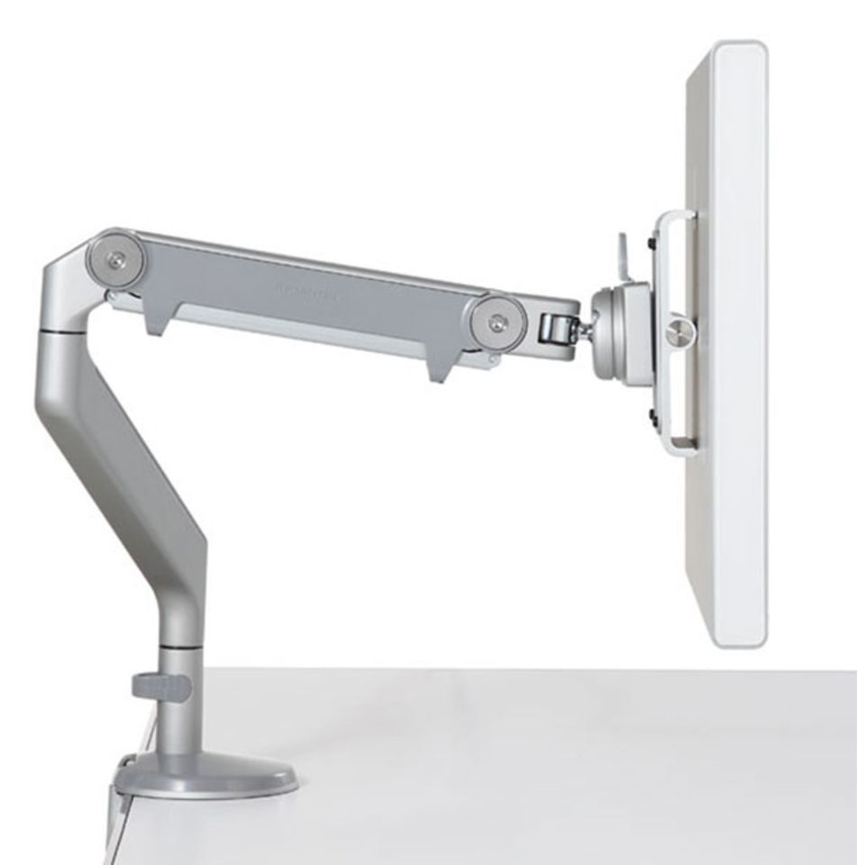 Human Scale M2 Monitor-Arm weiß/chrom mit VESA Adapter 75/100 Produktbild