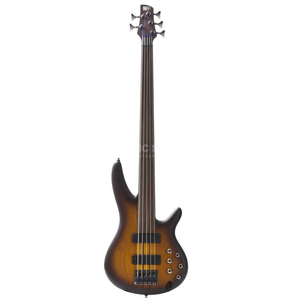 Ibanez Bass Workshop SRF705-BBF Fretless Fivestring Brown Burst Flat Produktbild