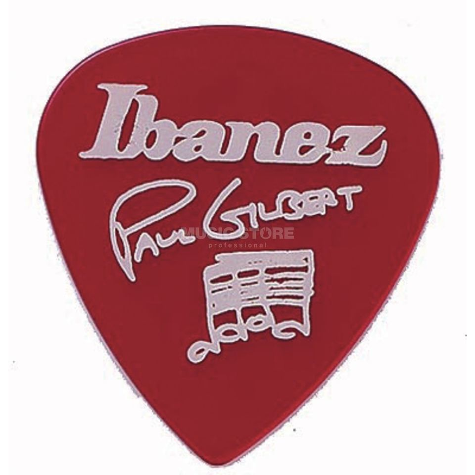 Ibanez Guitar Pick B1000PG-CA, 6-pack Paul Gilbert,signature, red Produktbillede