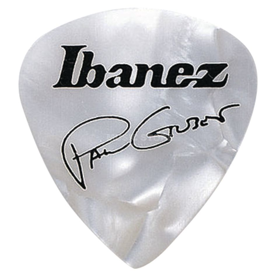 Ibanez Guitar Pick B1000PG-PW, 6-pack Paul Gilbert, signature, white Immagine prodotto
