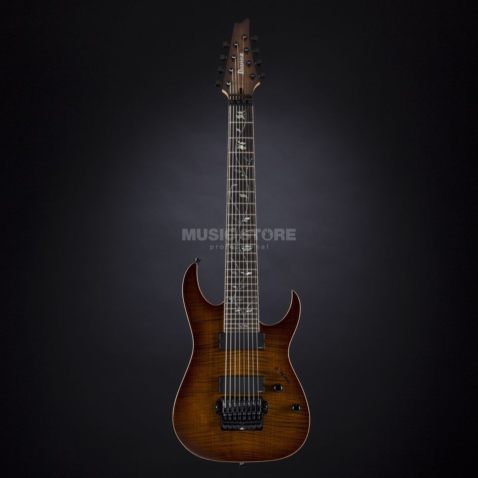 Ibanez J. Custom JCRG20138-BGA 8-String Brown Garnet Shadow #F1330075 Produktbillede