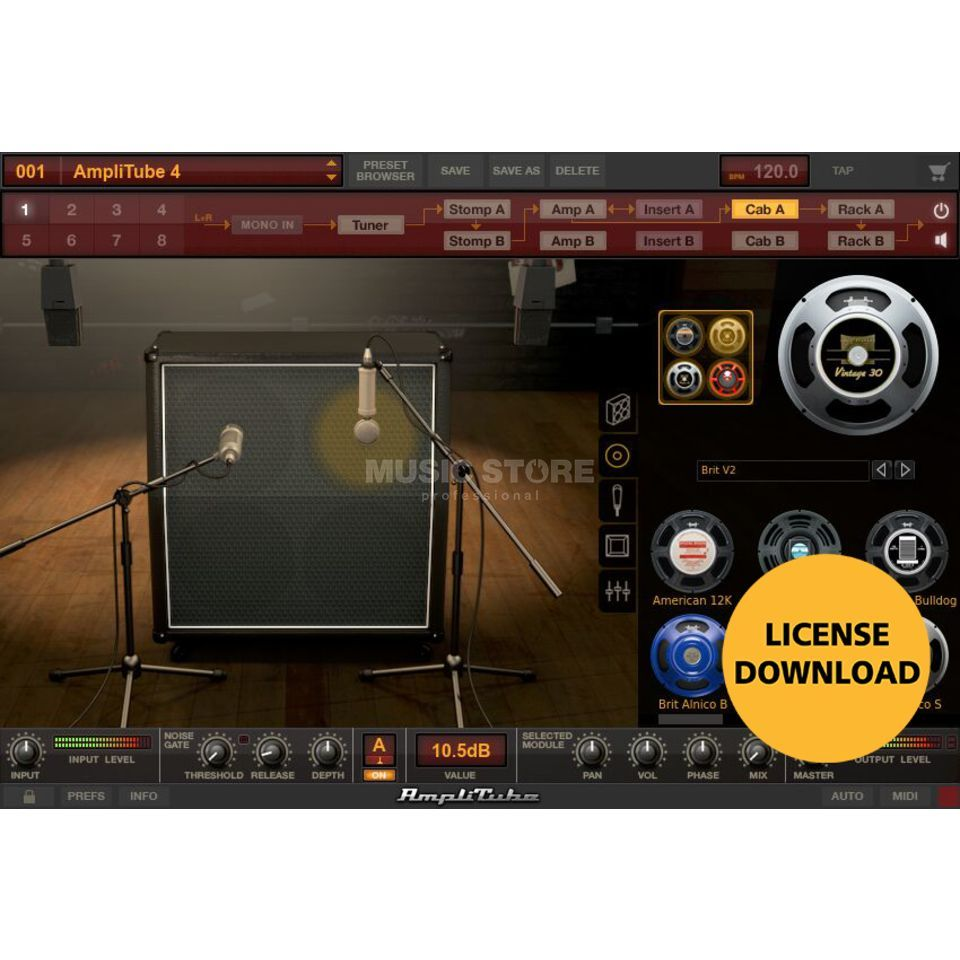 IK Multimedia Amplitube 4 License Code Product Image