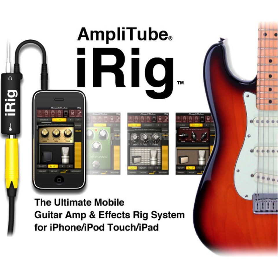 IK Multimedia iRig Guitar Interfac Interface for iPad/Phone Produktbillede