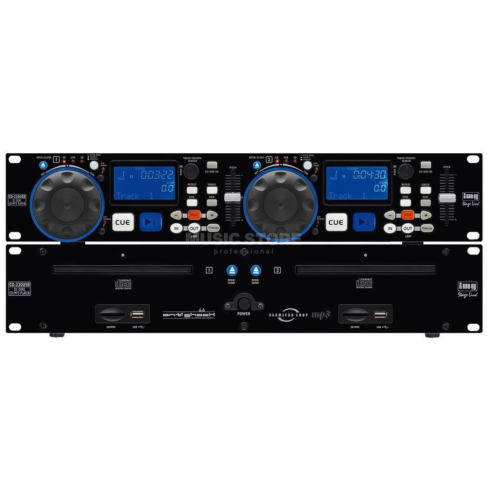 IMG STAGELINE CD-230USB DJ-Dual-CD- und MP3-Player Produktbild