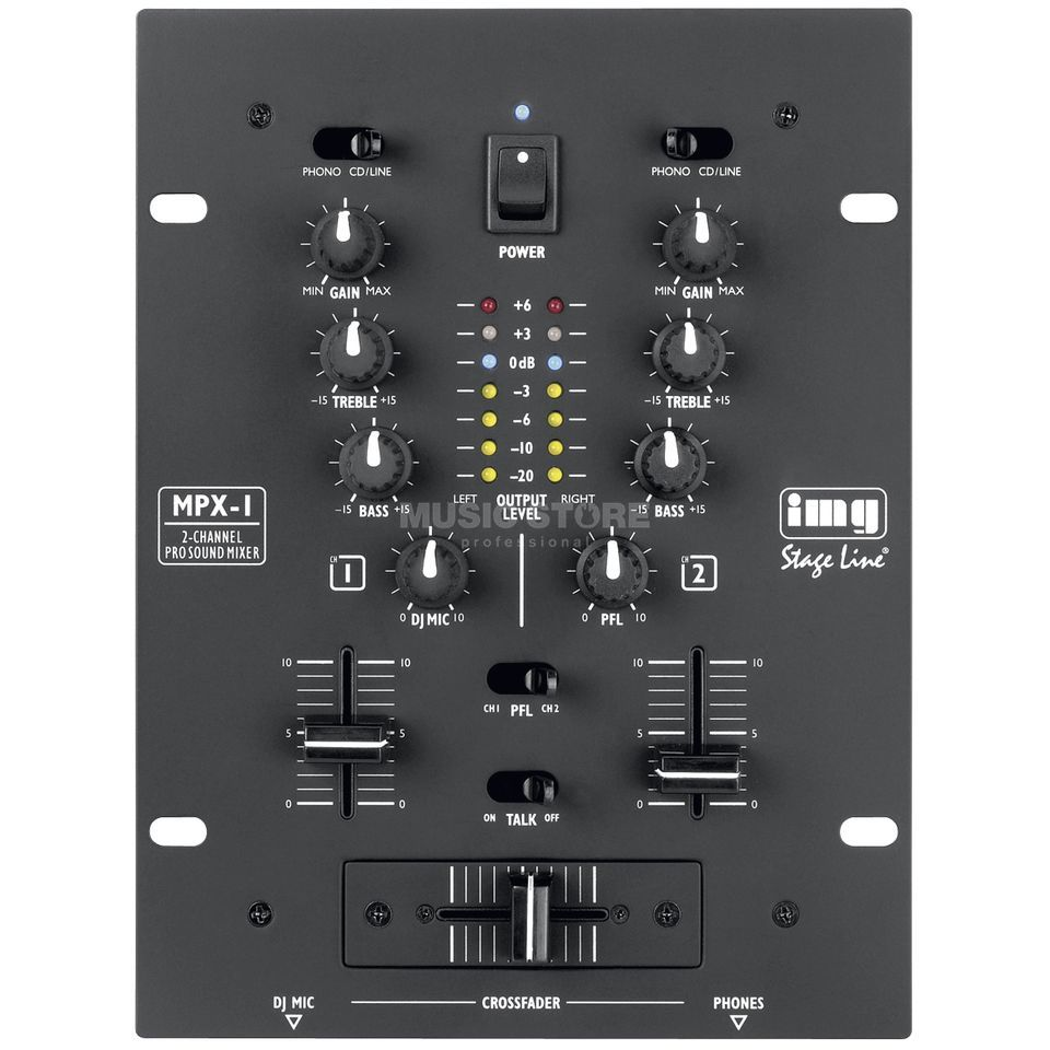 IMG STAGELINE MPX-1 BK 2-Channel Mixer, Black Изображение товара