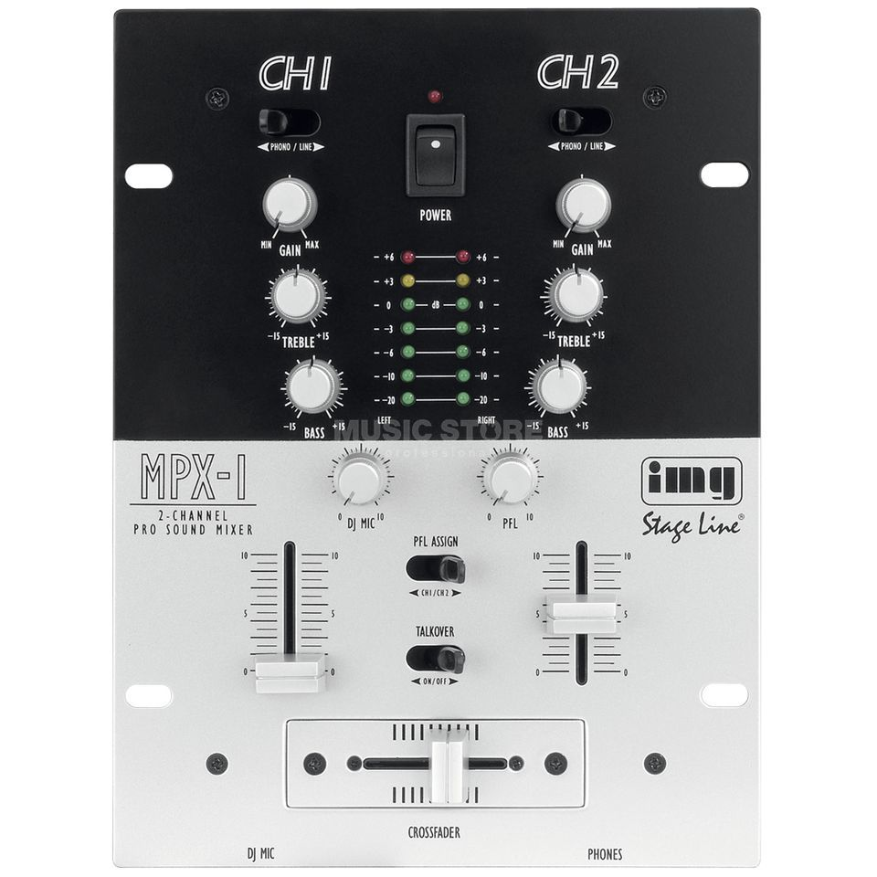 IMG STAGELINE MPX-1 SW 2-Channel DJ Mixer  Product Image