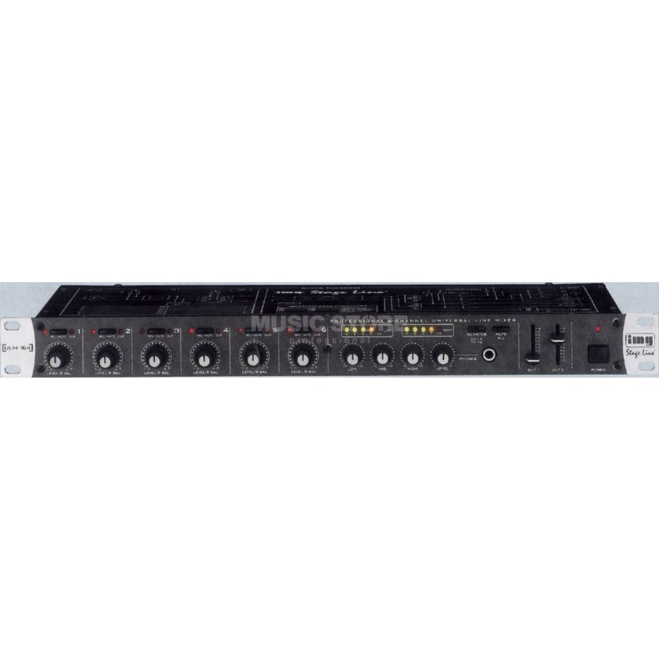 IMG STAGELINE ULM-164/ Universal Line Mixer 6 Stereo-/Mono Inputs,3 BandEQ Produktbillede