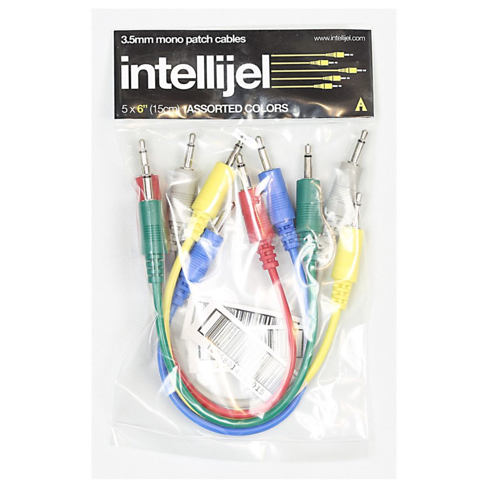 Intellijel Patch Cables 15cm Pack of 5 Assorted Colours Product Image