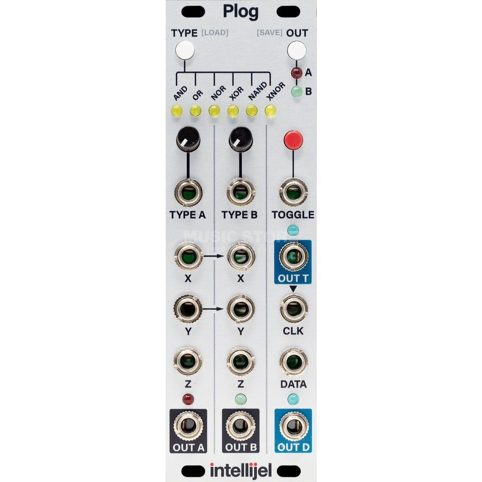 Intellijel Plog Logic and Tap Clock module Produktbillede