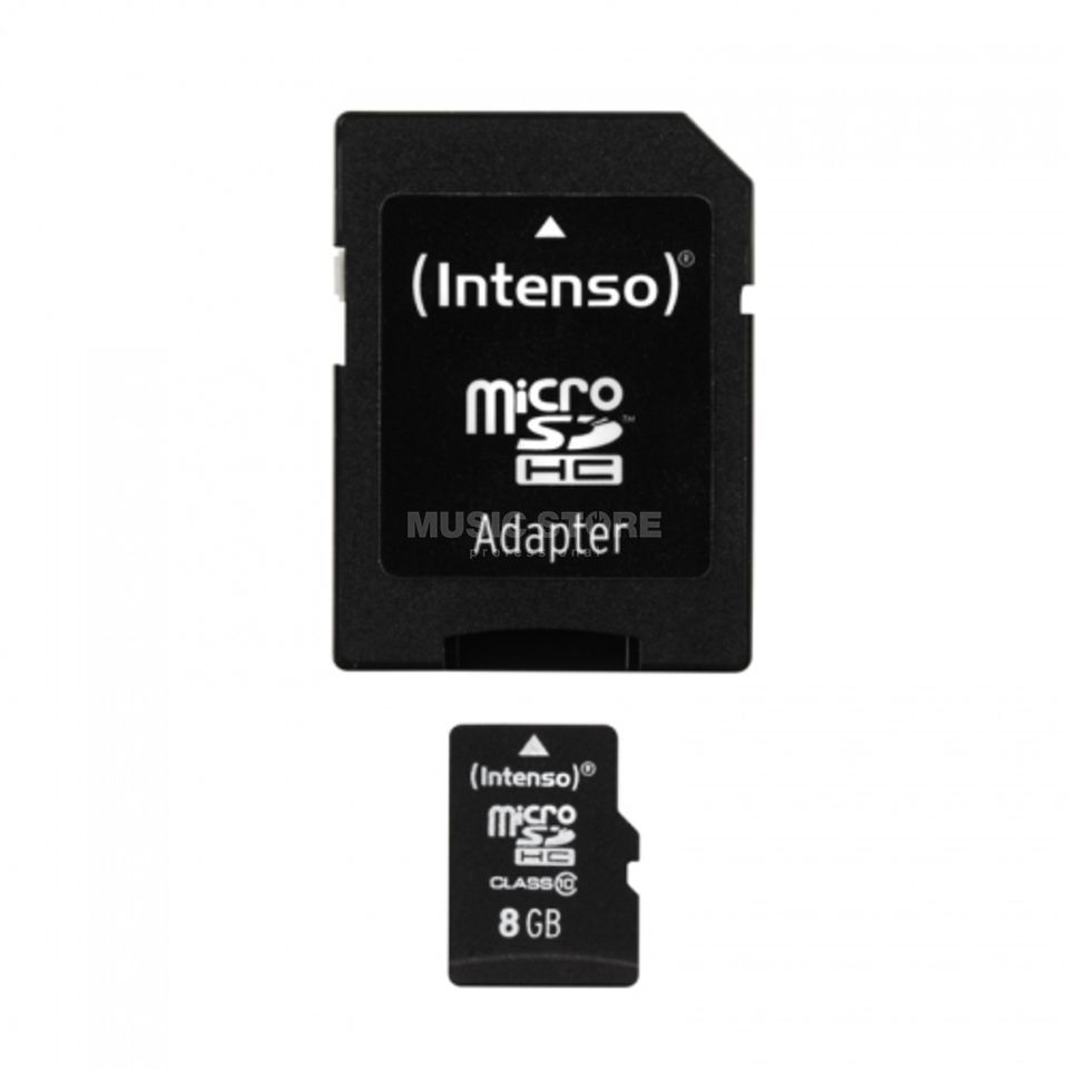 Intenso 8GB Micro SDHC Card CL10 mit Adapter/ für Card Recorder Produktbild