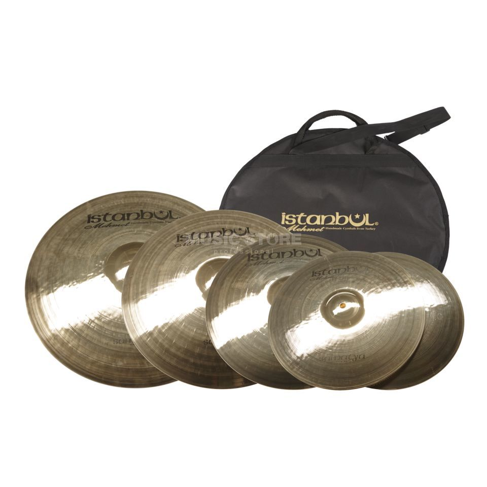 "Istanbul Samatya Cymbal Set ""XL"", 20""R, 16""Cr, 14""HH+18""Cr+Bag Product Image"