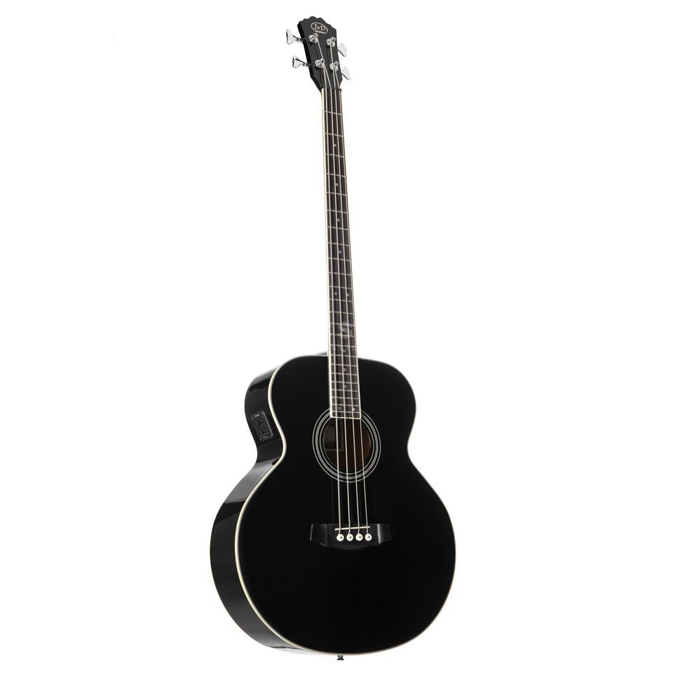 Jack & Danny ABG-1 4-String Acoustic Bass Guitar, Black Изображение товара