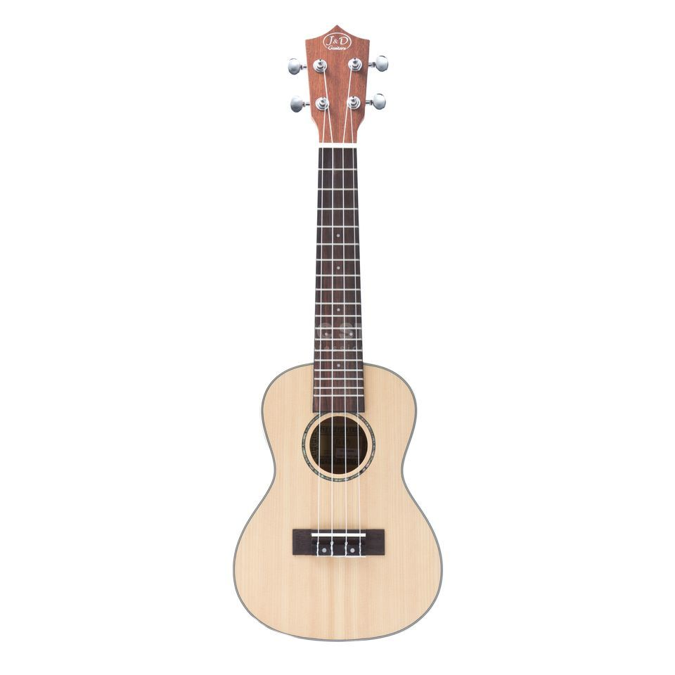 Jack & Danny CS-3 Concert Ukulele NT Solid Spruce Top, Natural Product Image