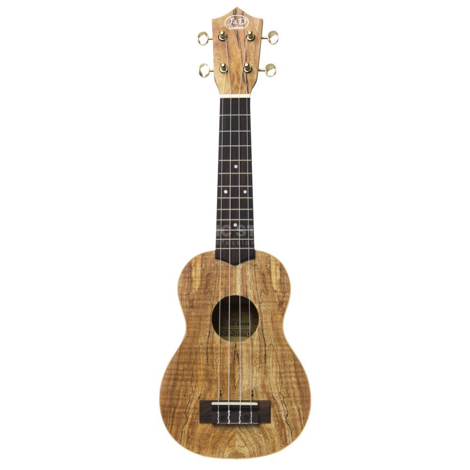 Jack & Danny SM-4 Sopran Ukulele Spalted Maple-Body, Natural Produktbillede