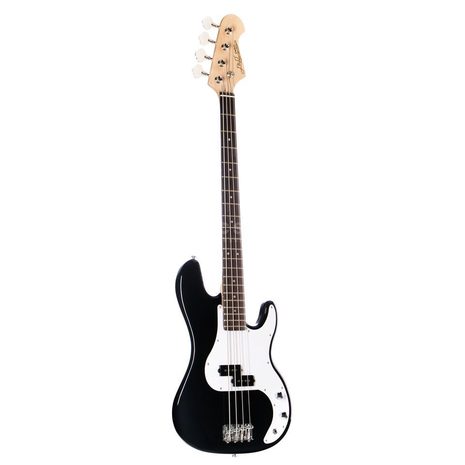 Jack & Danny YC-PB BK 4-String E-Bass Guitar, Black Highgloss Immagine prodotto