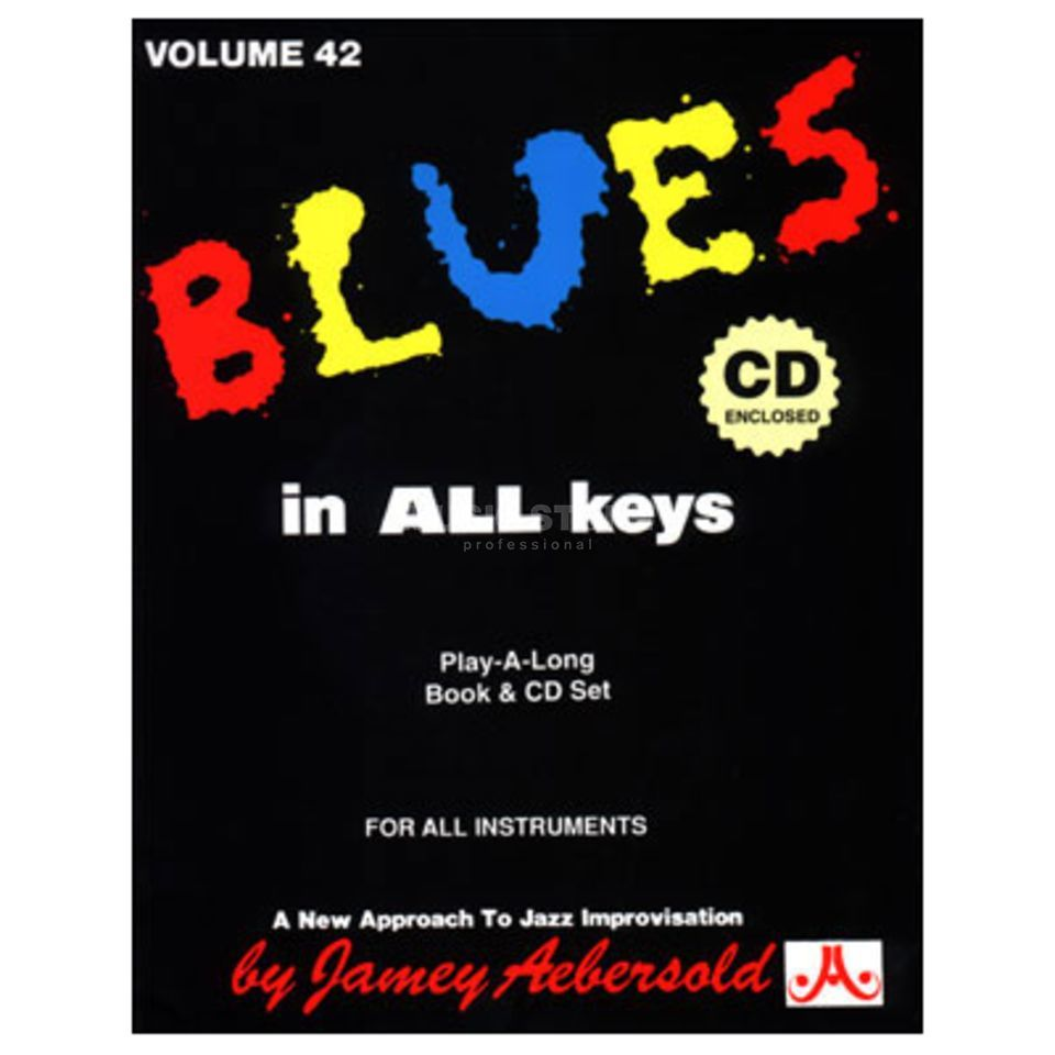 Jamey Aebersold Aebersold: Blues in all Keys Vol. 42, incl. CD Product Image