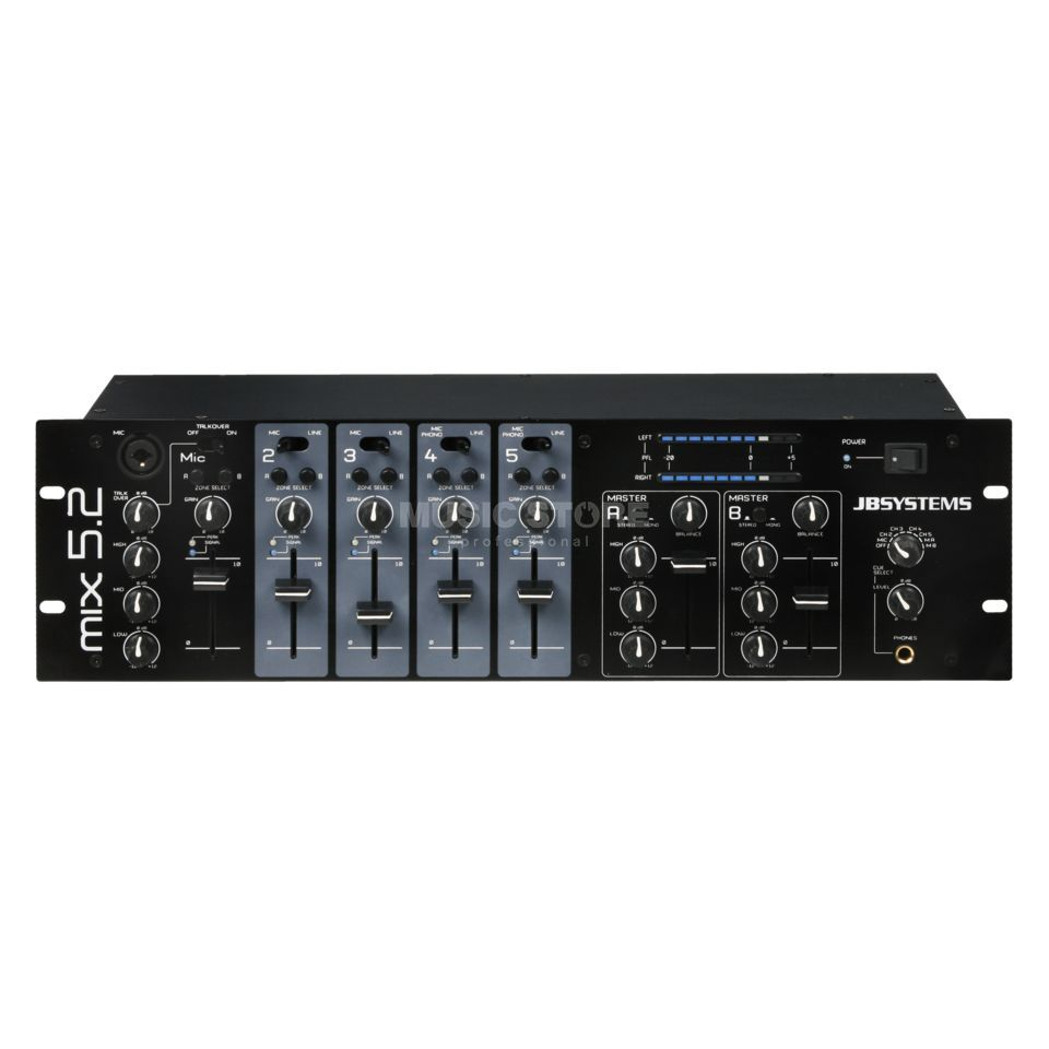 JB Systems MIX 5.2 2 Zonen Mixer, 3HE Produktbillede